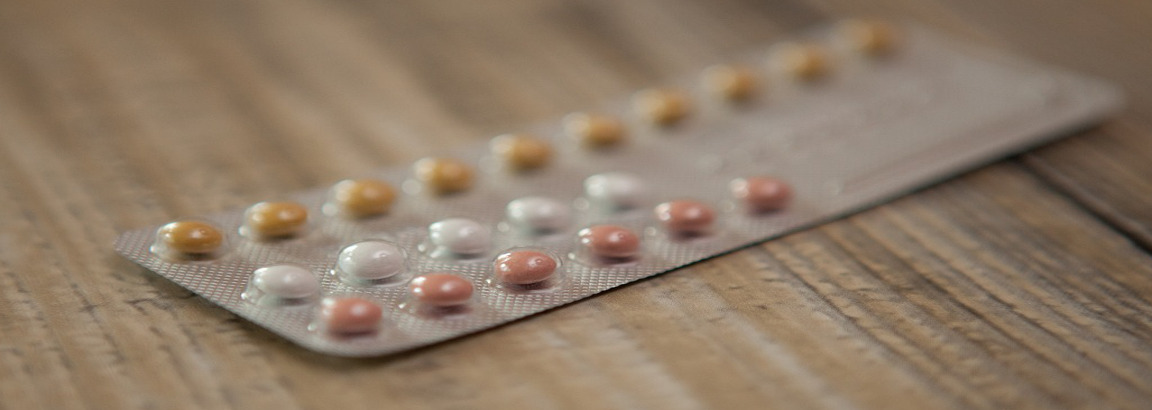 A pack of contraceptive pills
