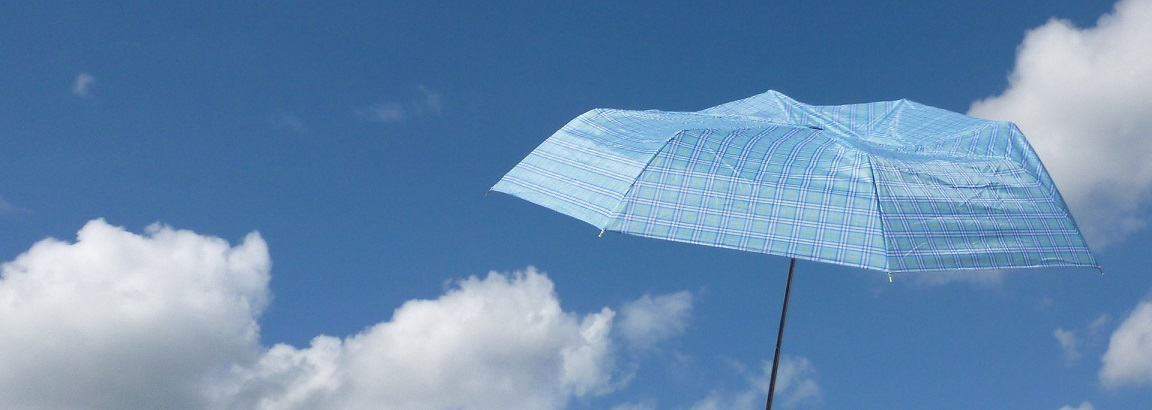A parasol in a summers sky